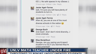 UNLV teacher apologizes for controversial comments