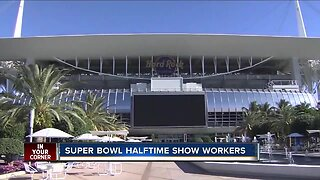 Super Bowl halftime show workers needed