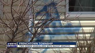 Two Monroe County homes vandalized with racial slur and 'thief' - Video