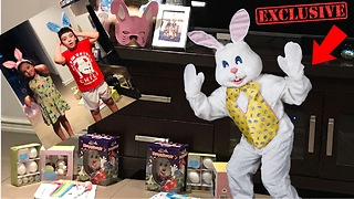 EASTER BUNNY CAUGHT! EASTER EGG HUNT with Michael and Sienna 2018