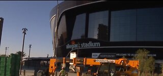 Allegiant Stadium construction is wrapping up; future of football season unclear