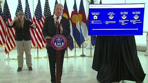 Colorado Gov. Polis outlines dates which certain businesses can start to reopen next week