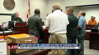Judge goes off on landlord accused of dodging fines - Video