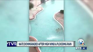 Waterspout in pool in Panama City Florida - Video