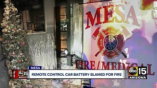 Remote control battery explosion blamed for Mesa house fire