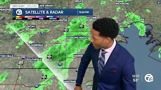 Lingering showers to start the week