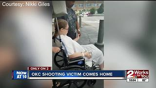 Victim in Oklahoma City Restaurant shooting returns home from the hospital