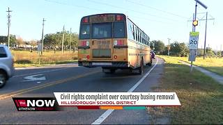 Civil rights complaint over courtesy busing removal
