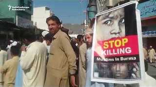 Pakistan Protesters Demand Government Severs Ties With Myanmar - Video