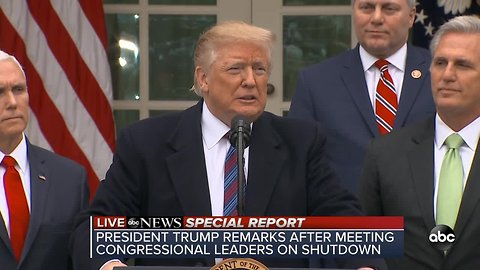 ABC News Special Report: Trump explains problems at US-Mexico border after 'progress' made in government shutdown meeting