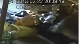 Bus Plows Into 18 Motorbikes and Two Cars in Pattaya, Thailand - Video