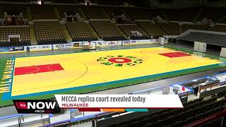 Milwaukee Bucks unveil replica MECCA floor for Thursday night game - Video