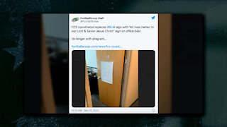 College Football Coach Finds BLM Sign on Door, Replaces With All Lives Matter Sign...is Fired