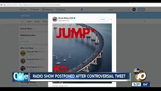 Radio show postponed after controversial tweet - Video