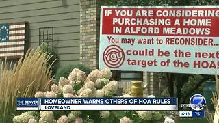 HOA dispute takes center stage on front lawn of Loveland home - Video