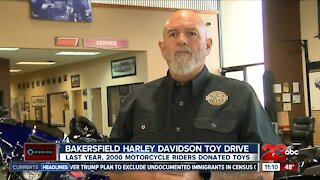 Bakersfield Harley Davidson holding annual Toy Drive