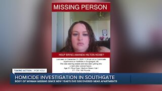 Missing Southgate woman found dead, husband being held as suspect