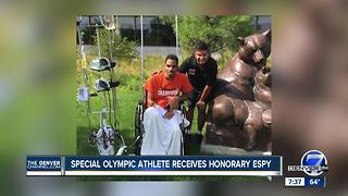 Honorary ESPY given to Special Olympic athlete battling cancer in the hospital - Video