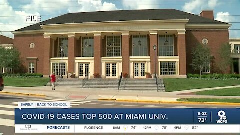 COVID-19 cases top 500 at Miami University
