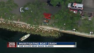 Man killed, woman seriously injured after boat crash near Davis Islands - Video
