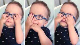 Glasses Help Baby See His Parents Properly For The First Time - Video