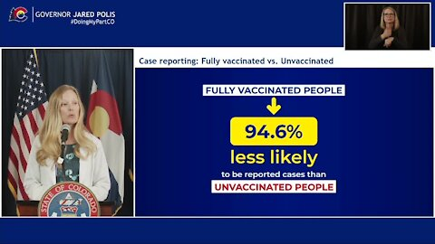 Colorado officials say vaccinated people 94% less likely to get COVID-19 than unvaccinated people