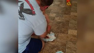 Dad Falls For The Brownie In The Diaper Prank - Video