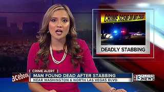 Man found dead after stabbing near Washington, Las Vegas Blvd.