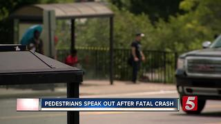 Pedestrians Speak Out After Fatal Crash - Video
