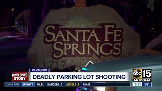 Two men shot, killed in Phoenix apartment parking lot - Video