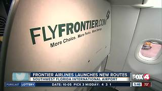 Frontier launches new flights from RSW airport - Video