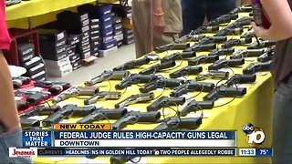 Judge rules on high-capacity gun magazines