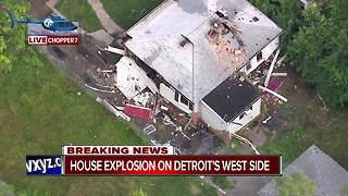 Explosion at home on Detroit's west side - Video