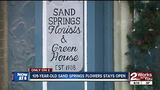 Historic Sand Springs Flowers will not close - Video