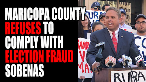Maricopa Country Supervisors REFUSE to Comply with Election Fraud Subpoenas as they face ARREST
