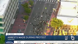 Arrests made during protests
