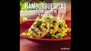 Chicken Burgers with Corn and Avocado Salsa