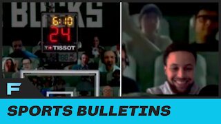 """Bucks Page Trolls Fans By Placing Steph Curry As Virtual Fan Claiming He Came To """"Watch"""" Giannis"""