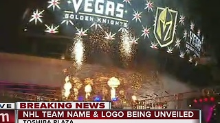 Las Vegas' new NHL team named Golden Knights - Video