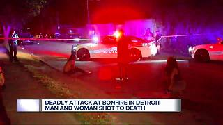 Two killed at Detroit bonfire party, shooter may have used AK-47 - Video