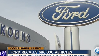 Ford recalls 680,000 vehicles - Video