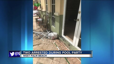 Man and woman arrested after violently crashing pool party in West Palm Beach