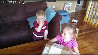 Little Boy Less Than Impressed With Gender Reveal - Video