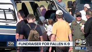 Fundraiser held in honor of fallen Phoenix police K-9 - Video