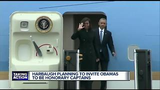 Harbaugh to invite Obamas to be honorary captains - Video