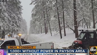 Thousands of residents without power due to downed power lines - Video