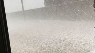 Hail Piles Up in Mississippi Town - Video