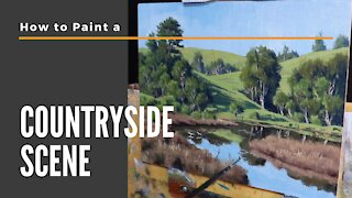 How to Paint a COUNTRYSIDE SCENE