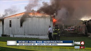 Mobile home fire in North Fort Myers could be suspicious