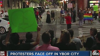 Protesters face off in Ybor City - Video